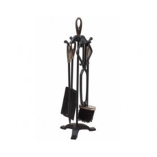 Dimplex D15011ASK Серебро/черный Каминный набор